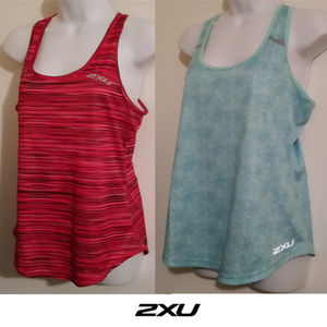 Bundle lot 2 2xu active sports singlet tank tops S